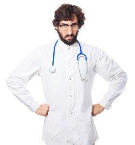 upset doctor