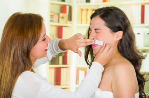Woman Facial Hair Adrenal Fatigue Getting Mustache Waxed