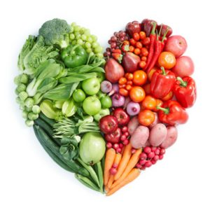 heart of fruits and veggies
